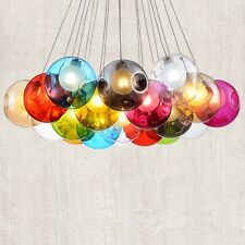 Possi Wired  LED Colorful Globe Glass Multi Lights Ceiling Fixture Home Lamp