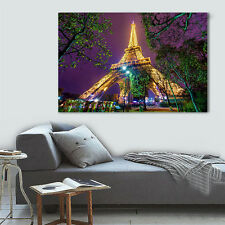 """HUGE MODERN ABSTRACT WALL DECOR ART OIL PAINTING ON CANVAS""""no frame""""Eiffel Tower"""