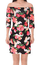 Sexy Women Floral Off Shoulder Tight Evening Clubwear Party Cocktail Mini Dress