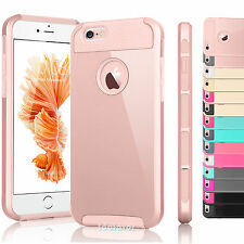 """Shockproof Rugged Hybrid Rubber Hard Cover Case for iPhone 7 4.7"""" / 7 Plus 5.5"""""""