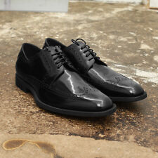 NEW Mens Dior Homme Black Leather Derby Brogue Gibson Shoes GENUINE RRP: £440