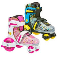 RDS Fun Roll Kids Boys, Girls Quad Roller Skates Adjustable Sizes 7-11 and 12-2