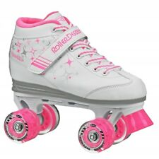 RDS Sparkles Girls Quad Roller Skates with Light Up Wheels  US Kids Sizes 12 - 5