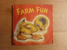 FARM FUN vintage 1950s booklet – A DINKY BOOK – THE CHILDREN'S PRESS