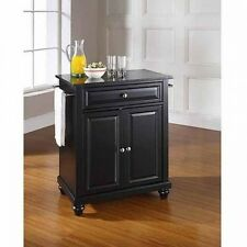 Crosley Furniture Cambridge Solid Black Granite Top Portable Kitchen Island. Fre