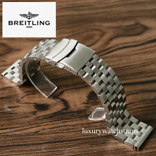 STEEL BRACELET FOR BREITLING CHRONOMAT SUPEROCEAN NAVITIMER MODELS 20 22 24mm