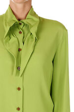 VIVIENNE WESTWOOD RED LABEL New Woman Green silk blend Shirt Blouse Made Italy