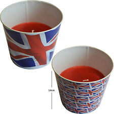 Union Jack Large Candle Handcrafted Tin Scented Large Flag Home Decoration New