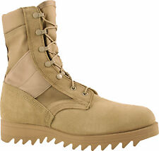 McRae Mens Desert Tan Suede/Cordura Hot Weather Ripple Military Boots