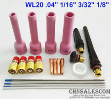 20 pcs TIG Welding Torch Stubby Gas Lens Kit for WP-17/18/26 Series 76mm Nozzle