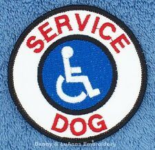 SERVICE DOG HANDICAPPED PATCH 3 IN Danny & LuAnns Embroidery assistance support