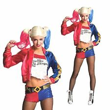 Harley Quinn Costume Halloween Cosplay Womens Sexy Adult Batman Arkham City Girl