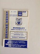 1967/68  Leeds United Football Programmes -  Various Fixtures