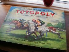 Vintage Totopoly  Board Game Horse Racing - Waddingtons Complete