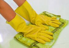 Orange Gloves Laundry Rubber Hot Protective Clean Waterproof Dishwashing Yellow