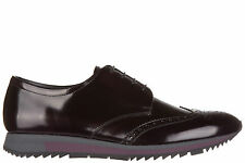 PRADA MEN'S CLASSIC LEATHER LACE UP LACED FORMAL SHOES NEW BROGUE SPAZZOLATO 900