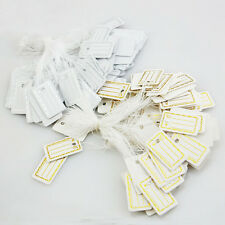 100pcs 26X15mm White Jewelry Craft Pricing Label String Price Tags Strung Swing