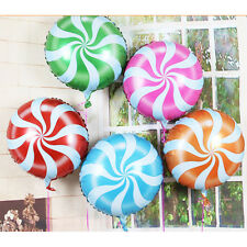 1Pcs 18 Inch Lollipops Peppermint Candy Swirl Birthday Party Decoration Balloon