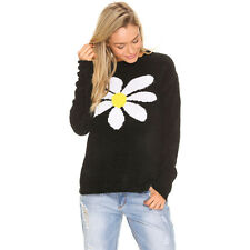 New Mink Pink Daisy Chains Knit in Black | Womens Knits