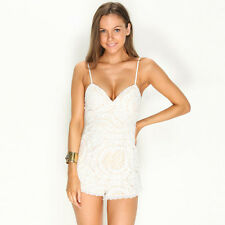 New Mooloola Social Scene Playsuit in White | Womens Playsuits