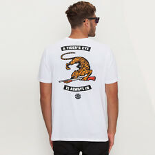 New Element Tigers Eye T-shirt in White | Mens Mens Tees