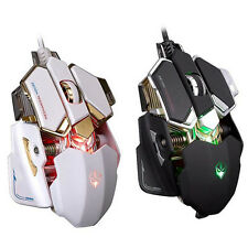 Hot 4000DPI 10D Buttons LED Optical Wired Gaming Mouse Mice For Pro PC Gamer