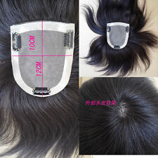 """4''x4.7""""  6''~16'' 100% Human Hair Topper Hairpiece Toupee For Women"""
