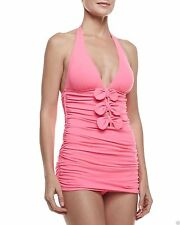 NWT $151 JUICY COUTURE BOW CHIC TIE HALTER SWIMDRESS SWIMSUIT, SIZE  SMALL