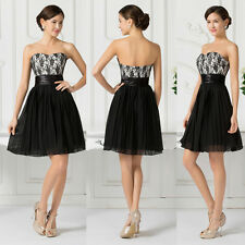 Short Mini Cocktail LACE Party Homecoming Evening Formal Bridesmaid Prom Dress