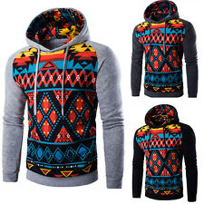 Winter Men Warm Hooded Drawstring Hoodie Coat Jacket Sweater Pullover Tops New