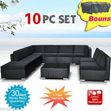 Wicker Furniture Rattan Garden Set Indoor Outdoor Sofa Lounge couch Setting