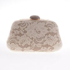 Women Lace Embroidery Bridal Wedding Party Purse Chain Evening HandBag Phone bag