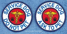 1 SERVICE DOG ASK TO PET DO NOT PET PATCH 3 IN Danny & LuAnns Embroidery support