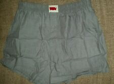 Levis Mens Woven Chambray 100% Cotton Boxer Shorts Grey M L