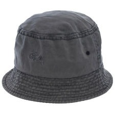 Stussy Basic Washed Bucket Hat in Black