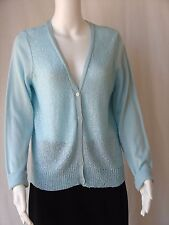 Apt 9 Cardigan Light Green Sweater with Sequins Long Sleeves Size L