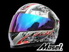 Masei 816 Silver Skull Full Face Motocross ATV Bike Motorcycle Helmets DOT ARAI