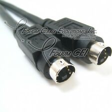 Cable Builders 6FT S-Video Cable SVideo Mini Din 4 Male to Male Cheap Value Sale