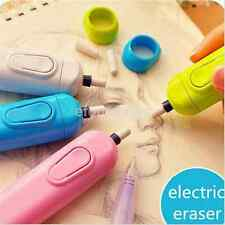 Electric Eraser Kit With 20x Eraser Refills Battery Operated For Child Artist US