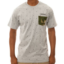 Crooks & Castles The Thieves Knit Pocket T-shirt in Grey NWT Crooks