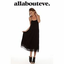 Womens All About Eve Beauty Maxi Dress Black Lace Low Neck Back Beach Summer Fun