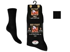 Mens Aler™ Non-Elastic 100% Cotton Ribbed Socks: Big foot Size 11-14