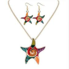 Resin Drip Earrings Hot Necklace Bohemia Vintage Beach Starfish Jewelry Sets