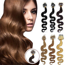 DIY Micro Ring Bead Loop Tip Remy Human Hair Extensions Body Wavy 20Inch 0.5G/S