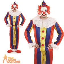 Adult Scary Circus Killer Clown Costume Halloween Horror Fancy Dress Outfit New