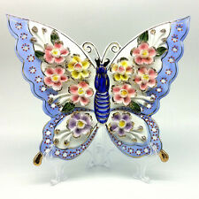 Vintage Style Porcelain Flower Butterfly Ornament for Home/Office/Store Decor