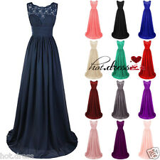 2016 Hot STOCK Formal Evening Prom Party Ball Gown Wedding Bridesmaid Dress 6-20