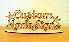 Custom Made Signs Free Standing Sign Craft Blank Laser Cut Wood