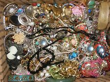 Vintage Estate High End Rhinestone Costume Jewelry Lot 30 POUNDS MASSIVE $ MAKER