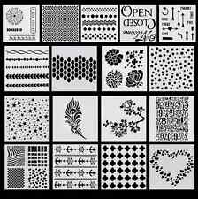 Layering Stencil Template For DIY Scrapbooking Photo Album Paper Cards Craft New